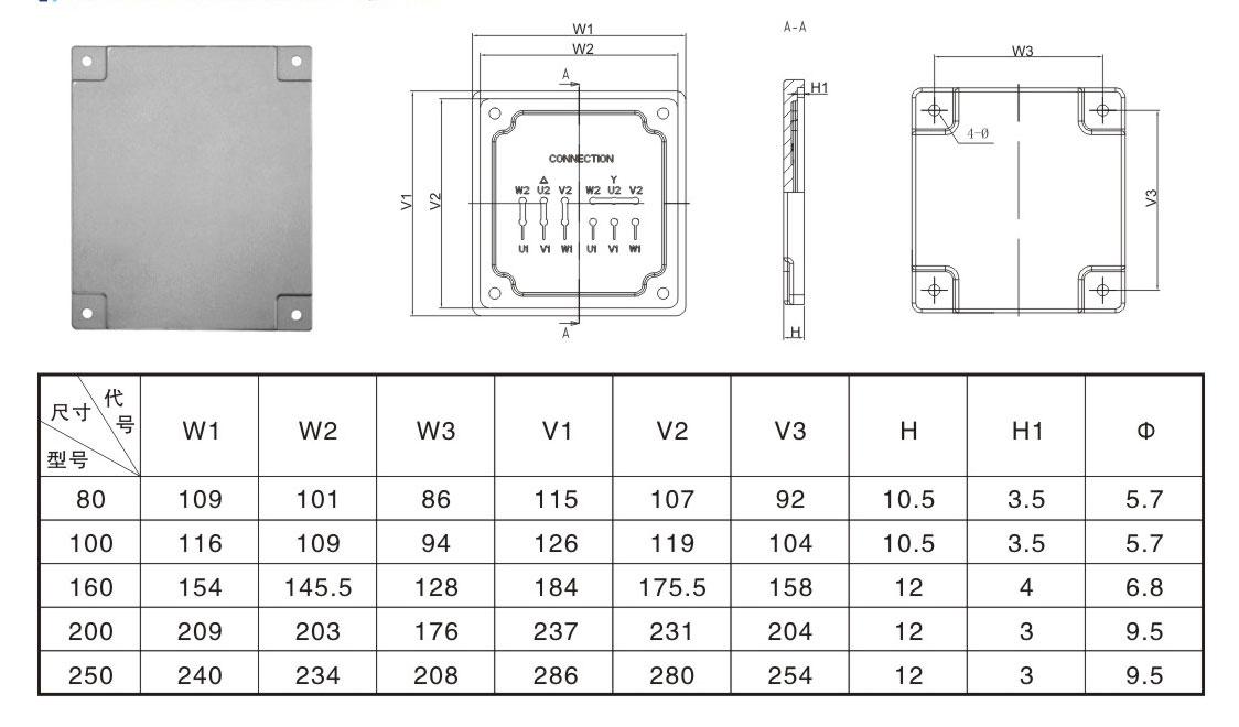 液压机械铝制品技术参数